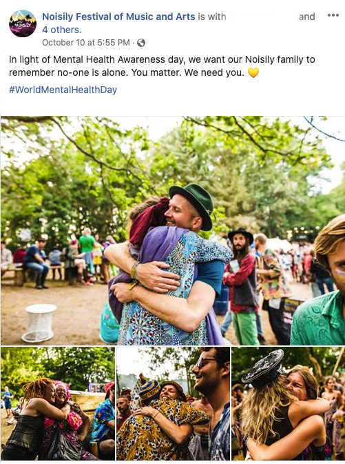 Man hugging woman for World Mental Health Day