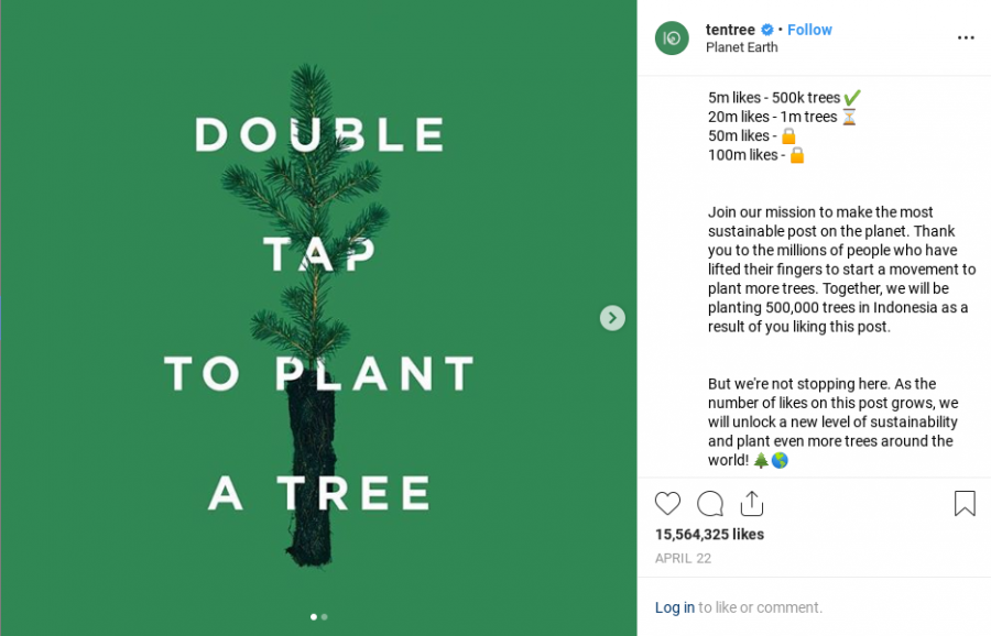 Tentree Instagram Post