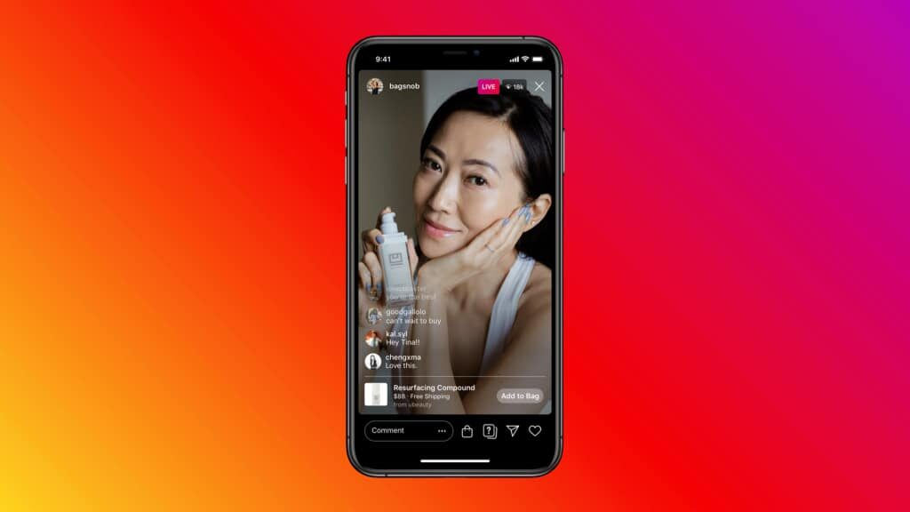 Live-stream Instagram Shopping Tags 2021